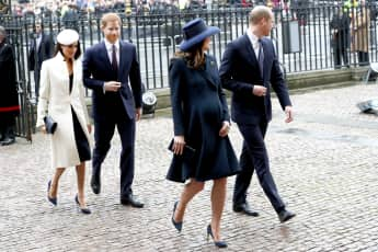 Herzogin Meghan, Prinz Harry, Herzogin Kate und Prinz William