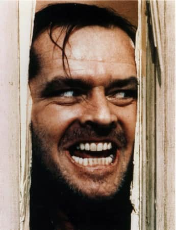 "Jack Nicholson als ""Jack Torrance"" in ""The Shining"" 1980"
