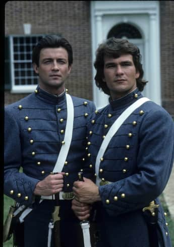 "James Read and Patrick Swayze as ""George Hazard"" and ""Orry Main"" in North and South"