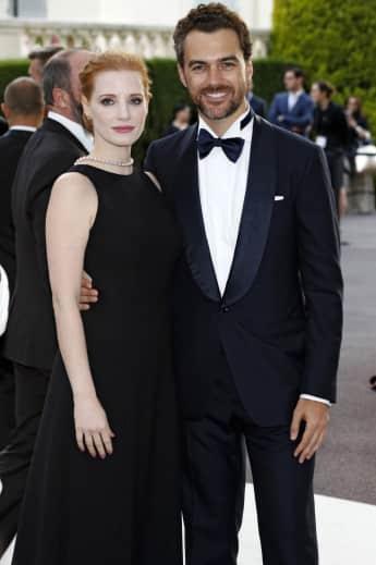 Jessica Chastain und ihr Ehemann Luca Passi de Preposulo