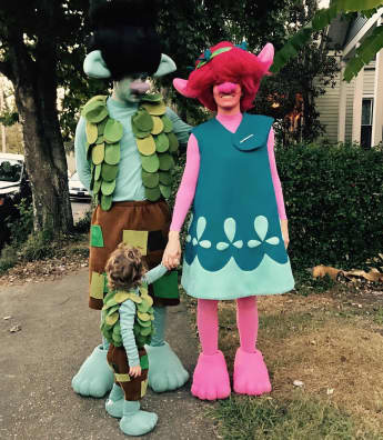 Justin Timberlake, Jessica Biel und Silas an Halloween 2016