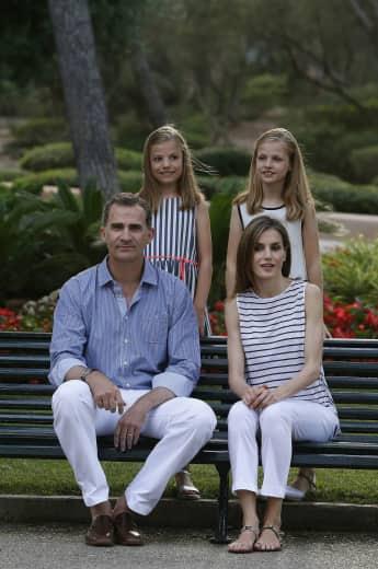 König Felipe, Königin Letizia, Prinzessin Leonor und Prinzessin Sofia auf Mallorca