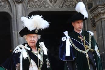 Königin Elisabeth II. und Prinz William