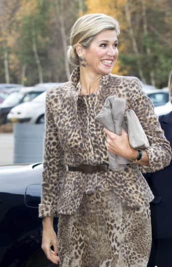 Königin Máxima im Leoparden-Print-Look