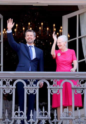 Prinz Frederik von Dänemark und Königin Margrethe