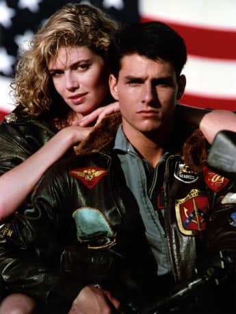 "Kelly McGillis und Tom Cruise in ""Top Gun"""