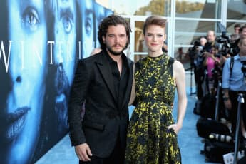 Kit Harrington Rose Leslie Game of Thrones Premiere