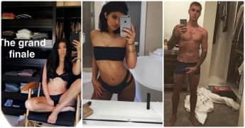 Jenner und Justin Bieber gehören zu den Stars die auf Instagram gerne mal die Hüllen fallen lassen