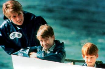 Prinz William, Lady Diana und Prinz Harry