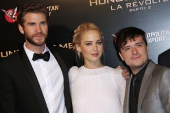 Liam Hemsworth, Jennifer Lawrence und Josh Hutcherson in Paris