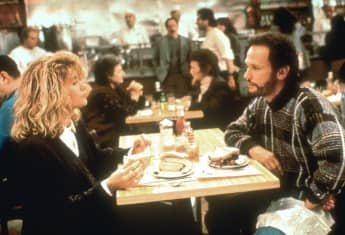 "Meg Ryan and Billy Crystal in ""When Harry Met Sally"""