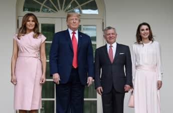 Melania und Donald Trump mit König Abdullah II. und Königin Rania von Jordanien