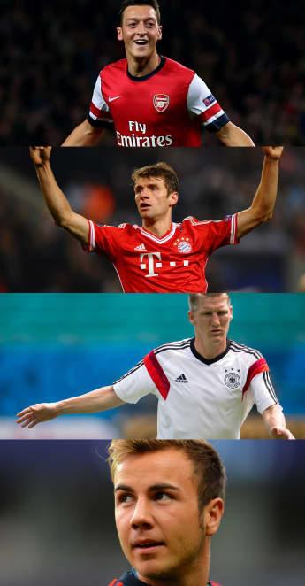 Özil, Müller, Schweinsteiger oder Götze? Wer ist der beliebteste Fußballer?