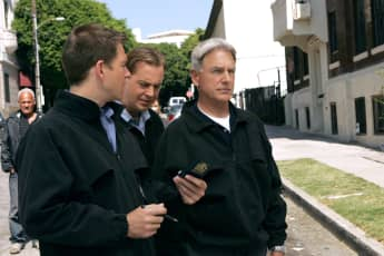 "Michael Weatherly, Sean Murray und Mark Harmon 18 Staffel ""NCIS"""