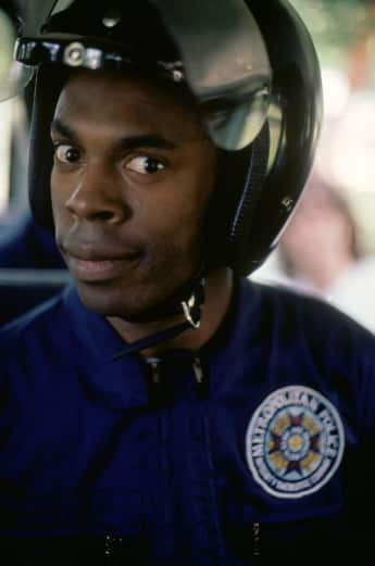 "Michael Winslow als ""Larvelle Jones"" in ""Police Academy"" 1984"