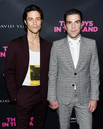 Miles McMillian und Zachary Quinto in New York City