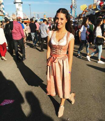 Nadine Menz auf dem Oktoberfest