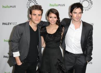 """Die """"Vampire Diaries""""-Star Paul Wesley, Nina Dobrev und Ian Somerhalder"""