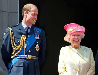 Prinz William Queen Elisabeth II.