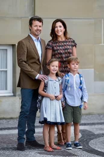 Einschulung Dänemark Royals Königshaus Prinz Frederik, Prinzessin Mary, Prinzessin Josephine und Prinz Vincent