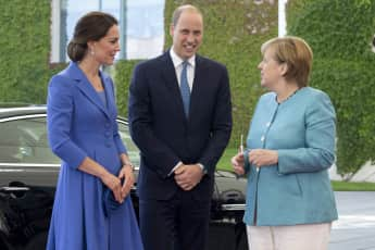 Prinz William Herzogin Kate Angela Merkel Berlin