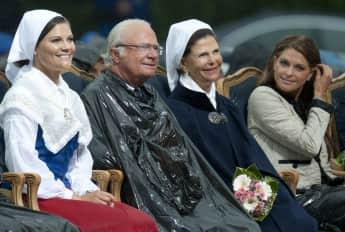 Prinzessin Victoria, König Carl Gustaf, Königin Silvia und Prinzessin Madeleine im Jahr 2011