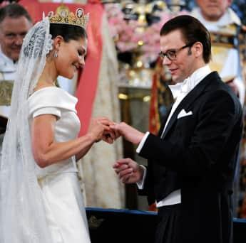 Prinzessin Victoria und Prinz Daniel bei ihrer Hochzeit 2010