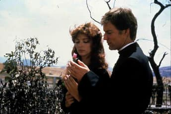 Rachel Ward and Richard Chamberlain in the 1983 mini series The Thorn Birds.