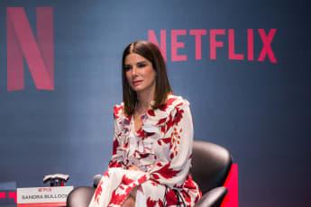 """Sandra Bullock während einer Pressekonferenz zum Film """"Bird Box"""""""