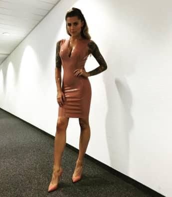 Sophia Thomalla zeigt sich im sexy Latex-Kleid