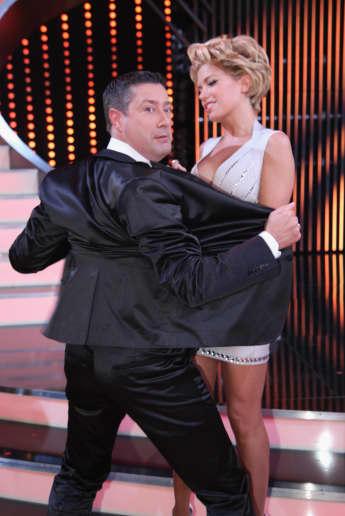 """Joachim Llambi und Sylvie Meis scherzen bei """"Let's Dance"""" , RTL"""