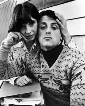 "Talia Shire and Sylvester Stallone in ""Rocky"""