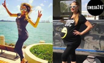 Alessandra Meyer-Wölden zwei Wochen nach der Zwillings-Geburt