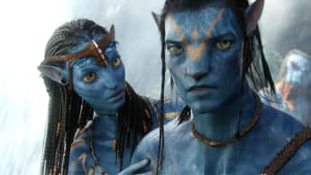 "Zoe Saldana and Sam Worthington in ""Avatar"""