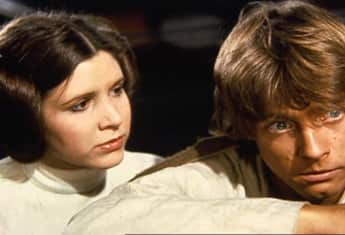 """Prinzessin Leia"" (Carrie Fisher) und ""Luke Skywalker"" (Mark Hamill) aus ""Star Wars"" heute Stars"
