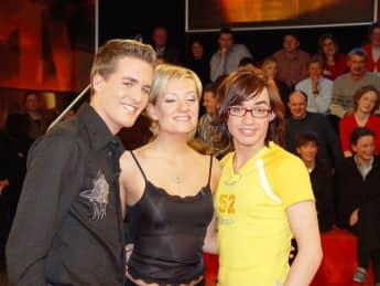 Alexander Klaws, Juliette Schoppmann und Daniel Küblböck im Jahr 2003
