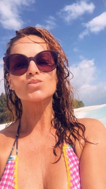 Sexy: Hier zeigt sich Andrea Berg im Bikini