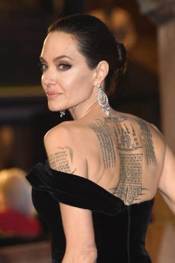 Angelina Jolie Tattoos nackt