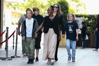 Angelina Jolie mit ihren Kindern in LA unterwegs