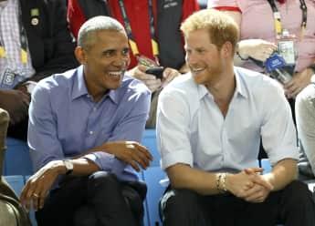 Barack Obama Prinz Harry Freunde lachen