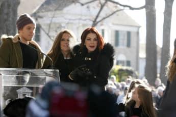 Benjamin Keough, Lisa Marie und Priscilla Presley im Jahr 2015