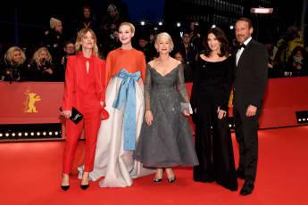 68. Berlinale Heike Makatsch, Elle Fanning, Helen Mirren, Iris Berben and Wotan Wilke Moehring