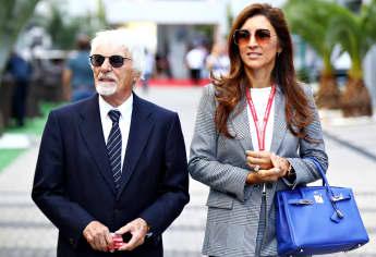 Bernie Ecclestone und seine Frau Fabiana