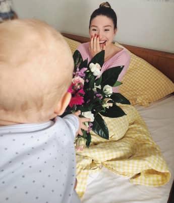 Bibi Claßen postet dieses süße Bild zum Muttertag