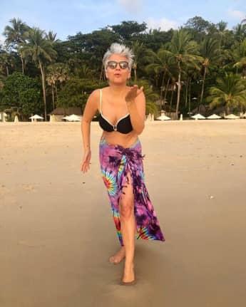 Birgit Schrowange Bikini