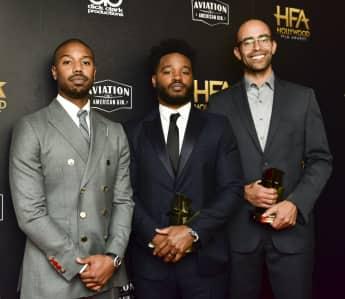 """Michael B. Jordan, Ryan Coogler und Nate Moore aus """"Black Panther"""""""