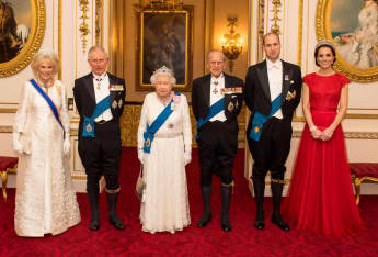 Britische Königsfamilie Buckingham Palace Prinz William Kate Die Queen Prinz Philip Herzogin Camilla