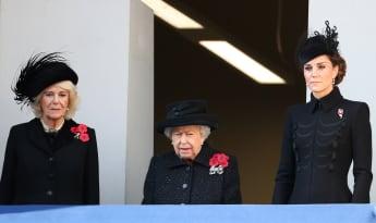 Camilla, Königin Elisabeth II. und Herzogin Kate beim Remembrance Sunday 2019