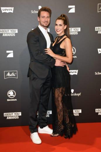 Sebastian Pannek und Clea-Lacy bei den About You Awards 2018, Der Bachelor, Bachelor Sebastian Pannek, Clea-Lacy