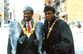 "Eddie Murpyh (""Akeem) and Arsenio Hall (""Semmi"") in Coming To America Sequel"